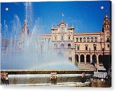 Fountain Rainbow Acrylic Print