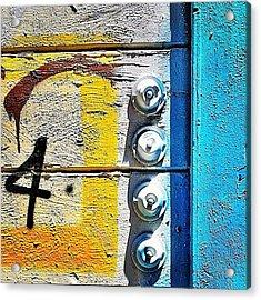 Four Doorbells Acrylic Print