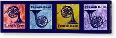 Four French Horns Acrylic Print by Jenny Armitage
