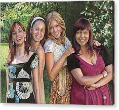 Four Friends  Acrylic Print by Laura Leonard