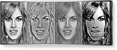 Four Interpretations Of Hilary Swank Acrylic Print by J McCombie