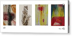 Four Seasons In Abstract Acrylic Print by Xoanxo Cespon