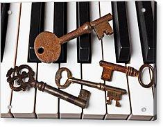 Four Skeleton Keys Acrylic Print by Garry Gay