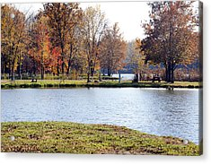 Fowler Lake 3 Acrylic Print by Franklin Conour