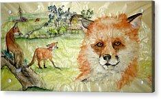 Fox Fun Acrylic Print