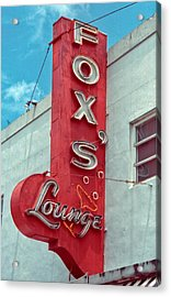 Fox's Lounge Acrylic Print