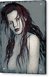 Foxy Redhead Acrylic Print