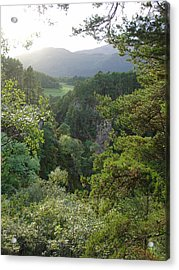 Acrylic Print featuring the photograph Foyers Valley by Charles and Melisa Morrison