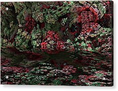 Fractal Alien Landscape Acrylic Print by David Lane