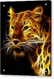 Fractal Leopard Acrylic Print by Wade Aiken