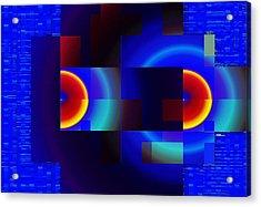 Acrylic Print featuring the digital art fractal Mondrian by Mario Carini