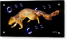 Acrylic Print featuring the digital art Fractal - Searching -  Robbie The Squirrel -7828 by James Ahn