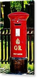 Fractalius Pillar Box Acrylic Print by Chris Thaxter