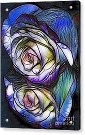 Fractalius Rose Reflection Acrylic Print by Marianne Troia
