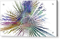 Fractura Colora On White Acrylic Print