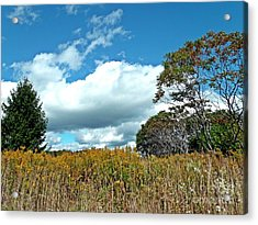 Acrylic Print featuring the photograph Framed Clouds by Christian Mattison