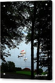 Framed In Harbor Acrylic Print by Ruth Bodycott