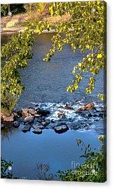 Framed Rapids Acrylic Print by Robert Bales