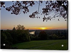 Acrylic Print featuring the photograph Framed Sunset by Maj Seda