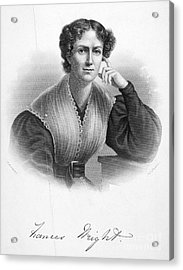 Frances Wright (1795-1852) Acrylic Print by Granger