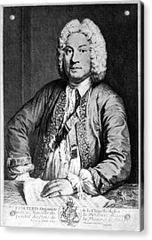 Francois Couperin (1668-1733). French Composer And Organist. Copper Engraving, 1725, By Joseph Flipart After A. Bouys Acrylic Print by Granger