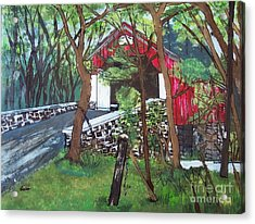 Frankenfield Covered Bridge Acrylic Print