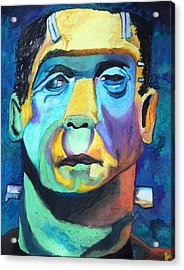 Frankenstein In Colour Acrylic Print by Jacquie Waldman