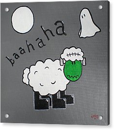 Frankenstein Acrylic Print by Sheep McTavish