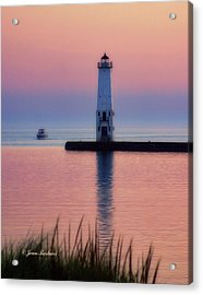 Acrylic Print featuring the photograph Frankfort Lighthouse by Joan Bertucci