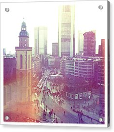 Frankfurt Downtown Acrylic Print by Ixefra