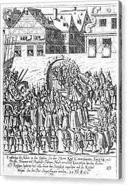 Frankfurt Jews, 1616 Acrylic Print