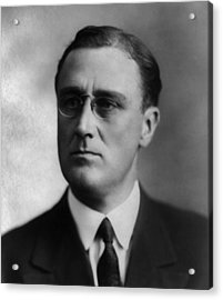 Acrylic Print featuring the photograph Franklin Delano Roosevelt by International  Images