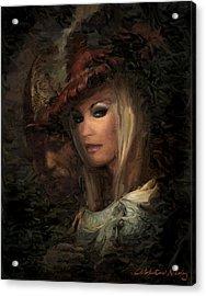 Frau Laura Acrylic Print by Nikolay Vakatov