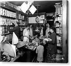 Fred Grovers Grocery Store Acrylic Print by Photo Researchers