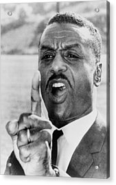 Fred Shuttlesworth, Points A Finger Acrylic Print by Everett