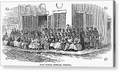 Freedmens School, 1868 Acrylic Print by Granger