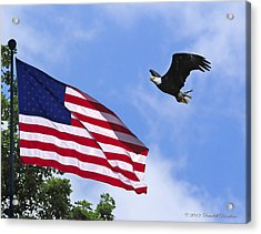 Acrylic Print featuring the photograph Freedom Feeds The Family by Randall Branham