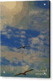 Freedom Flying Acrylic Print by Deborah MacQuarrie-Selib