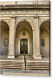 Freer Gallery Entrance Acrylic Print by Steven Ainsworth