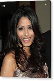 Freida Pinto At Arrivals For Arrivals - Acrylic Print by Everett