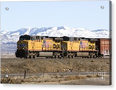 Freight Train East Of Boise Acrylic Print by David R Frazier and Photo Researchers