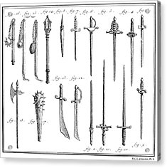 French Chivalric Weapons Acrylic Print by Granger