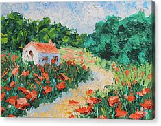 French Cottage Acrylic Print by Courtney Hancock