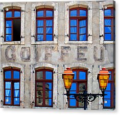 Acrylic Print featuring the photograph French Facade by David Harding