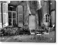 French Garden Acrylic Print by Jan Carr