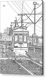 French Quarter French Market Cable Car New Orleans With Photocopy Acrylic Print by Shawn O'Brien