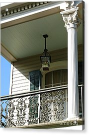 Acrylic Print featuring the photograph French Quarter Porch by Jeanne  Woods