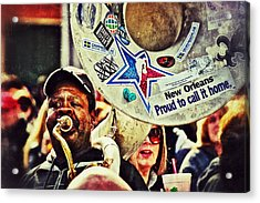 Acrylic Print featuring the photograph French Quarter Tuba Guy 1 by Jim Albritton