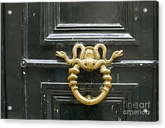 Acrylic Print featuring the photograph French Snake Doorknocker by Victoria Harrington