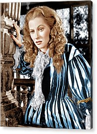 Frenchmans Creek, Joan Fontaine, 1944 Acrylic Print by Everett